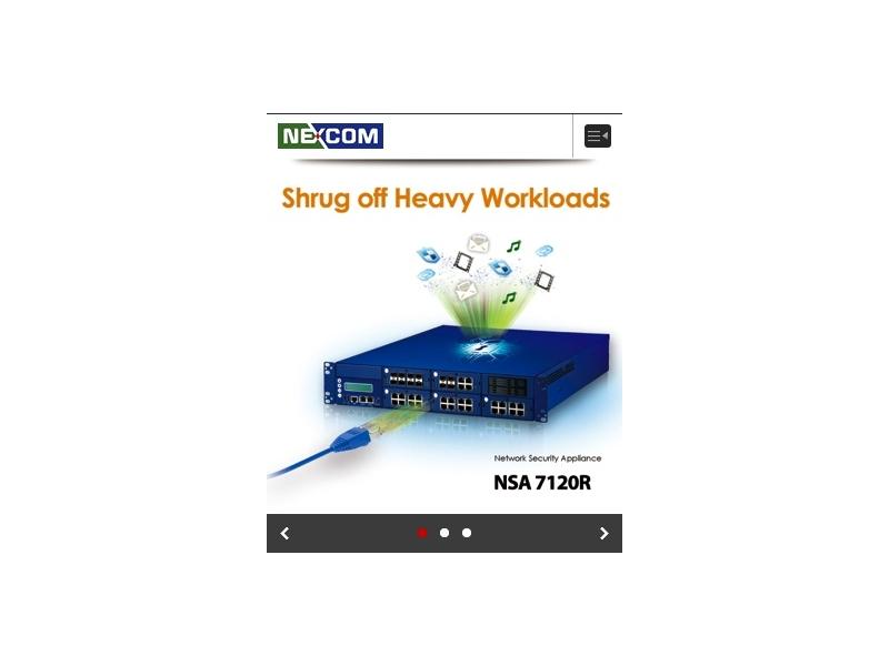 網頁設計|網站設計案例, 新漢電腦-手機版網站