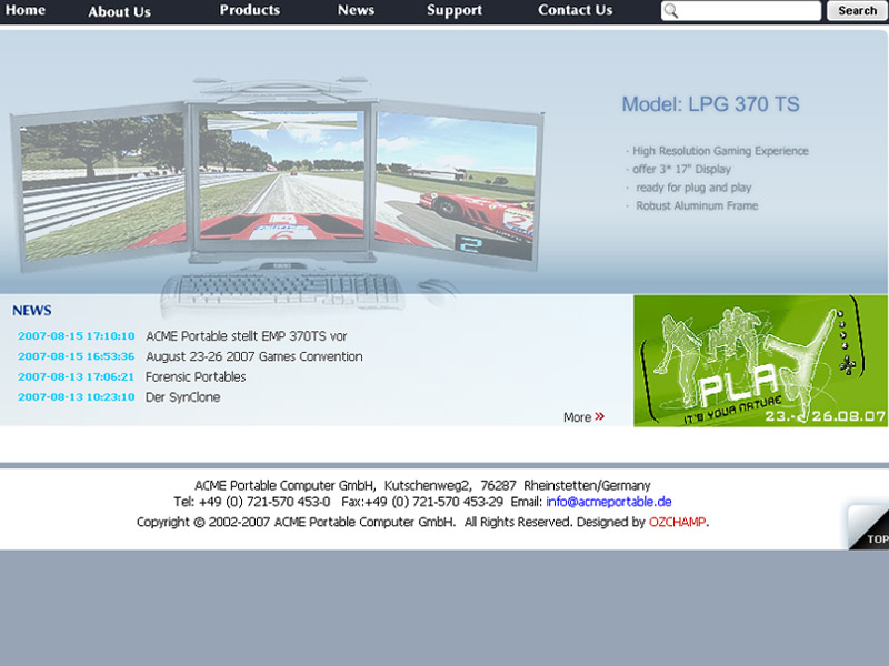 網頁設計|網站設計案例, ACME Portable Computer