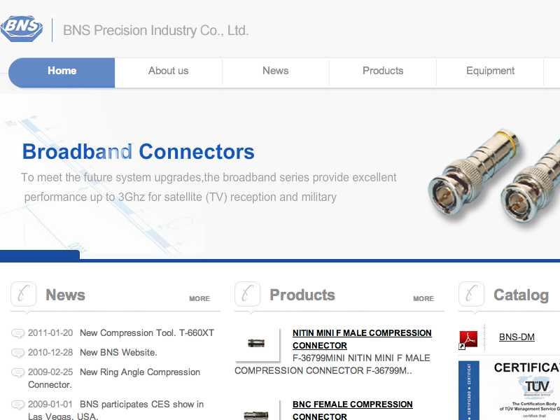 網頁設計|網站設計案例, BNS PRECISION INDUSTRY