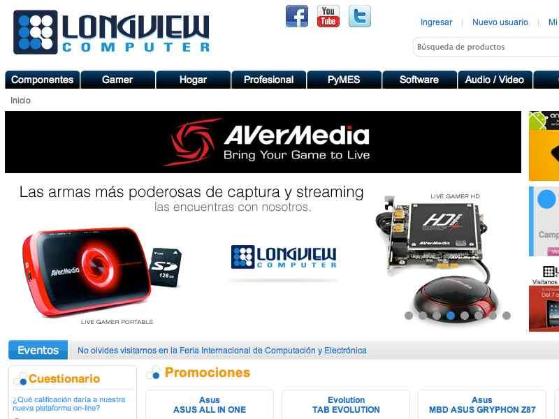 網頁設計 網站設計案例, Long View Computer Inc.