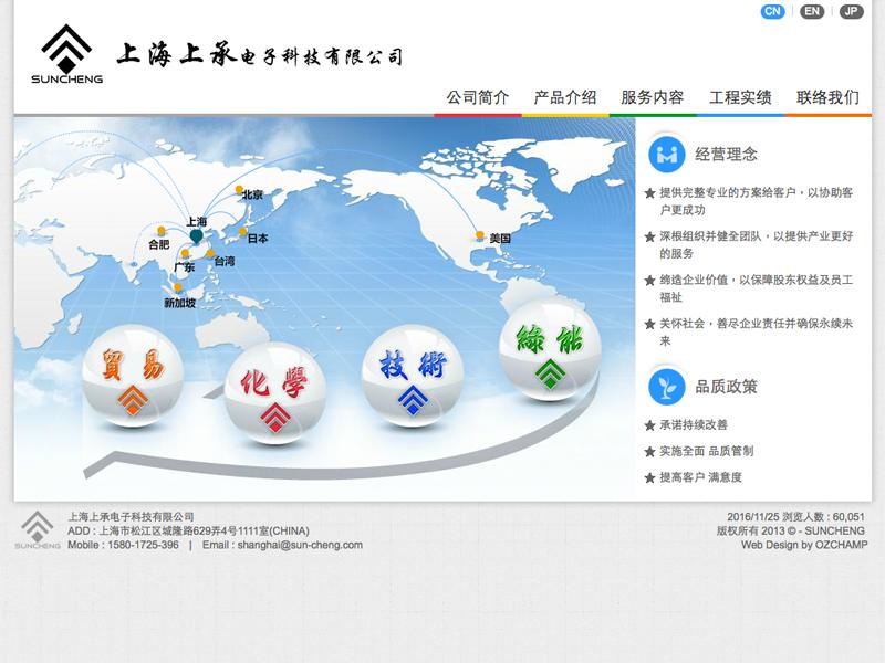 網頁設計|網站設計案例, 上海上承電子科技有限公司