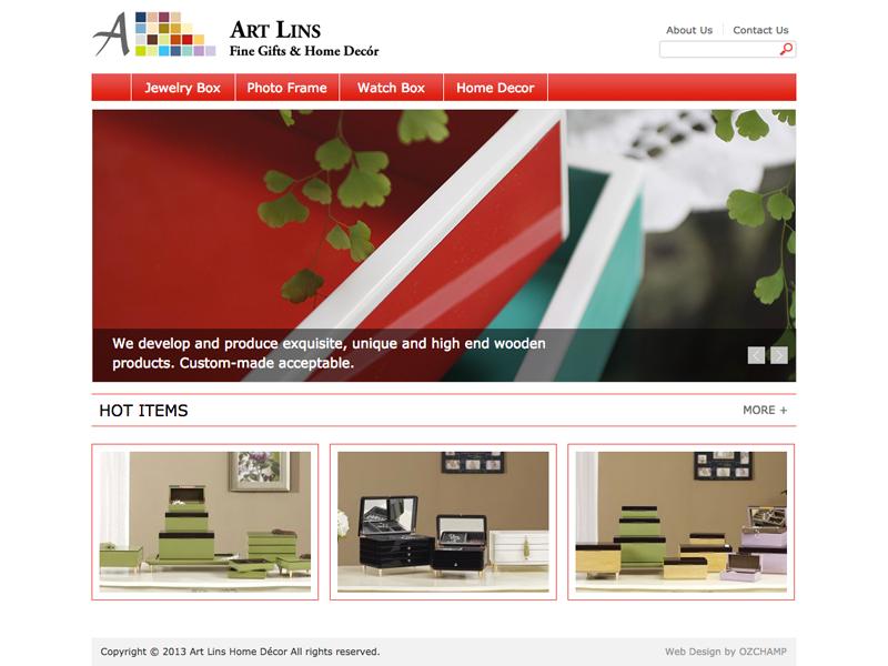 網頁設計|網站設計案例, Art Lins Home Décor