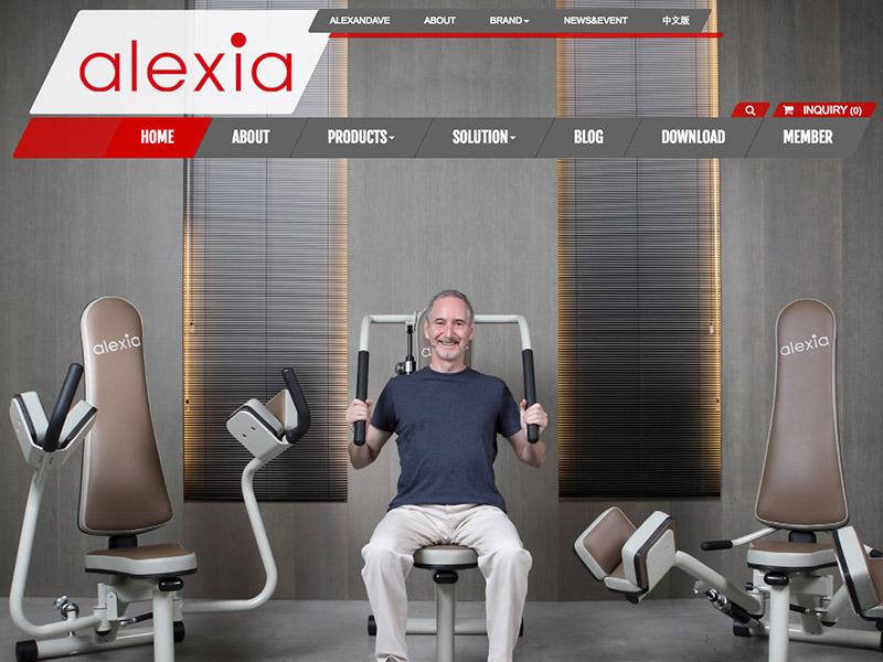 網頁設計|網站設計案例, 愛力實業 - Alexia