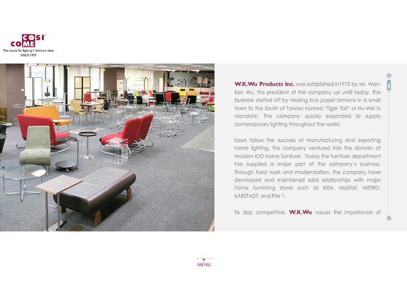網頁設計|網站設計案例, W.K.Wu Products Inc. (V.1)