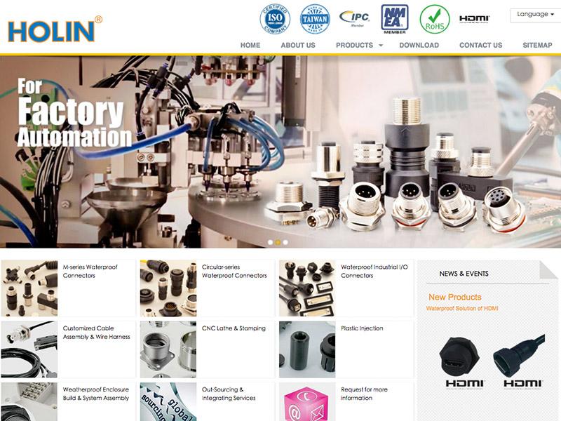 網頁設計|網站設計案例, 禾凌科技股份有限公司Holin