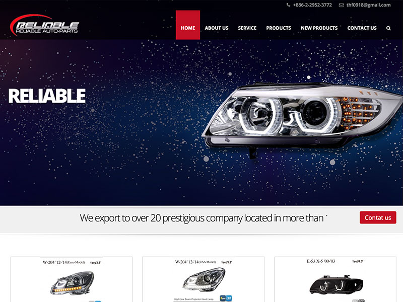 網頁設計|網站設計案例, 進信汽車