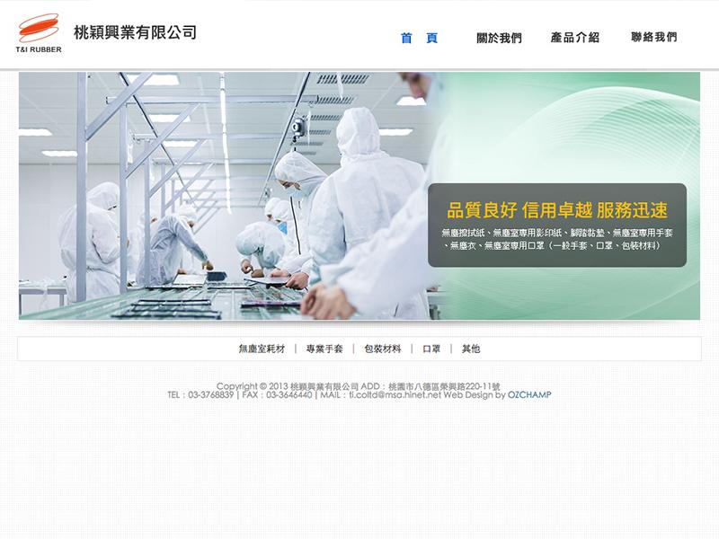 網頁設計|網站設計案例, 桃穎興業有限公司