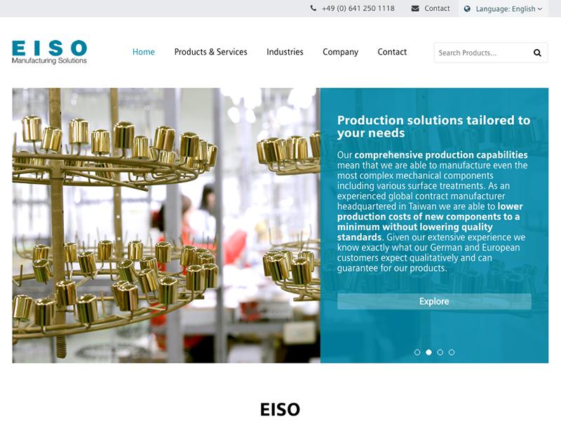 網頁設計|網站設計案例, Eiso Europe GmbH